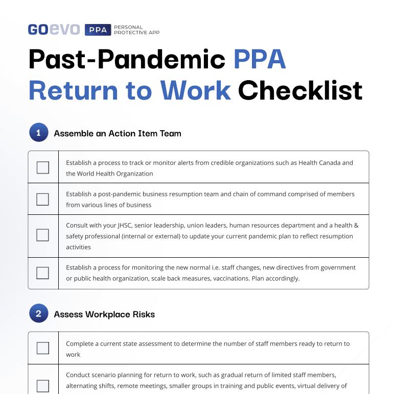 ppa checklist